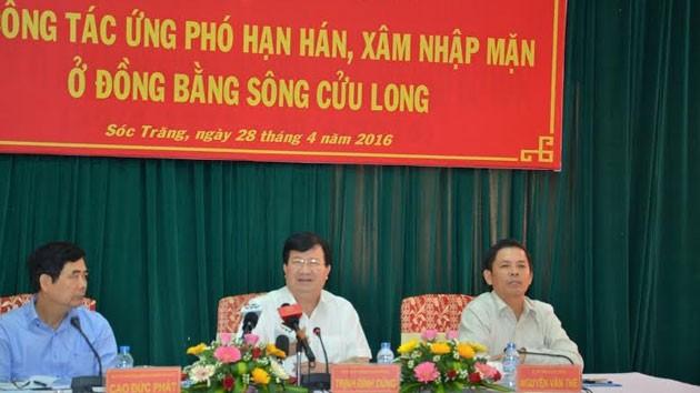 Mekong delta provinces address drought, saltwater intrusion - ảnh 1