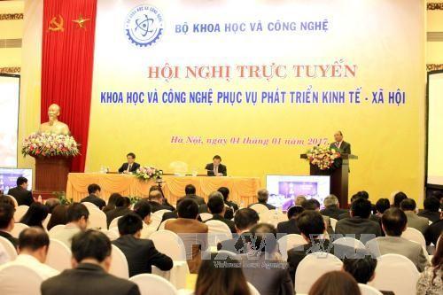 阮春福出席科技服务经济社会发展视频会议 - ảnh 1