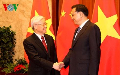 阮富仲会见中国国务院总理李克强 - ảnh 1