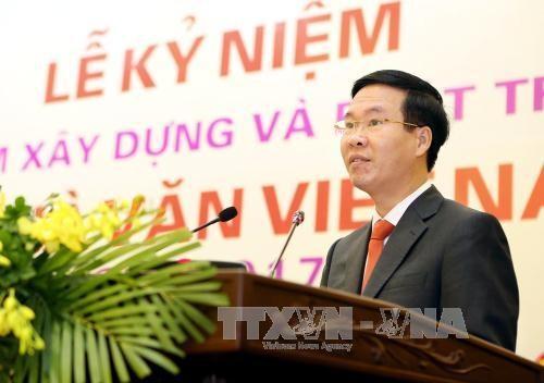 越南作家协会成立60周年纪念仪式在河内举行 - ảnh 1