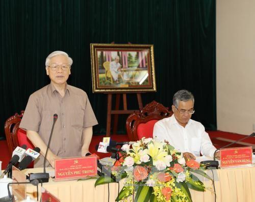 阮富仲:昆嵩省要快速和可持续发展 - ảnh 1