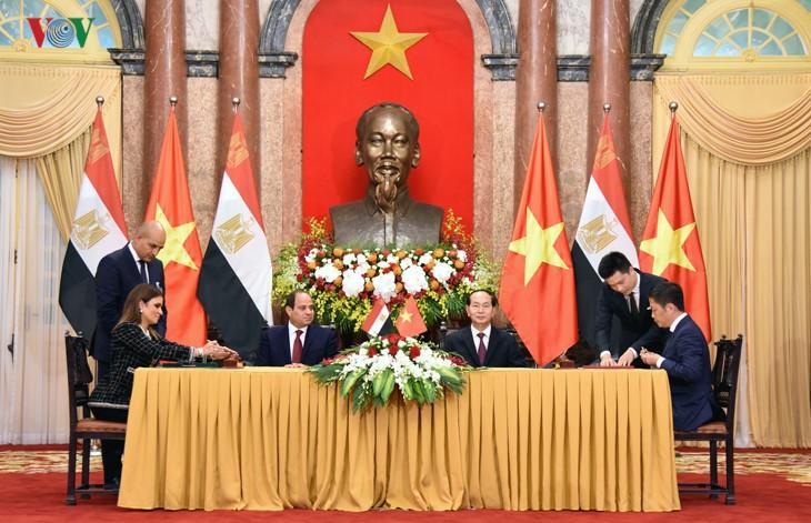 越南和埃及一致同意推动互利合作 - ảnh 1