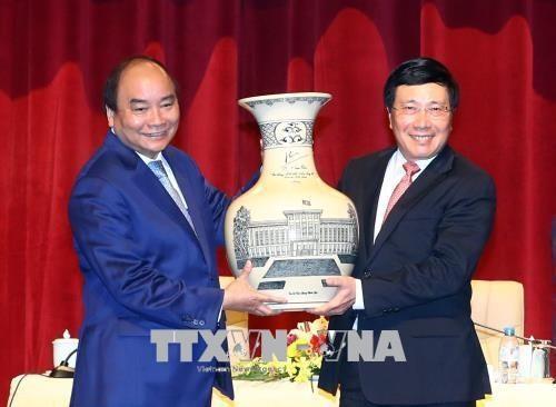 阮春福:外交干部是经济文化使者 - ảnh 1