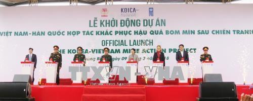 越南和韩国合作开展克服战后遗留爆炸物危害工作 - ảnh 1