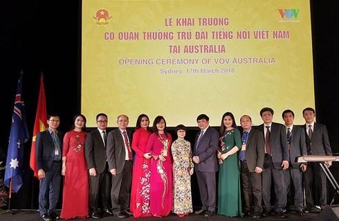 阮春福出席越南之声常驻澳大利亚记者站开张典礼 - ảnh 1