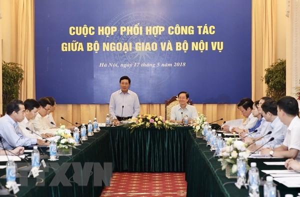 越南外交部与内务部召开协调配合工作会议 - ảnh 1