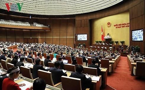 越南14届国会5次会议审查讨论多项法律草案 - ảnh 1