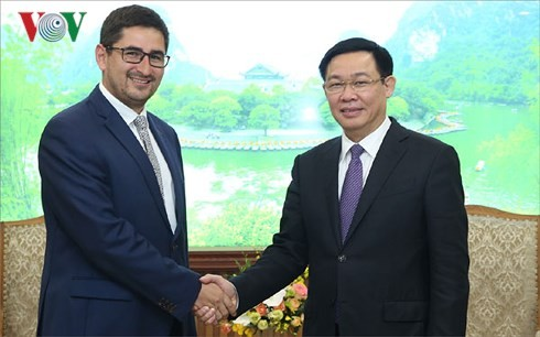 越南政府副总理王庭惠会见智利驻越大使馆临时代办斯莫伊 - ảnh 1