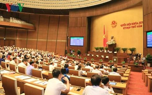 越南14届国会5次会议表决通过各项法律草案和决议 - ảnh 1