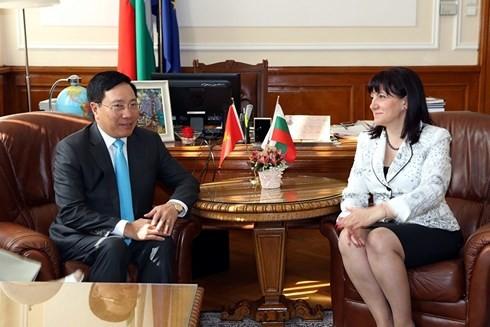 越南政府副总理兼外长范平明在保加利亚的访问行程 - ảnh 1