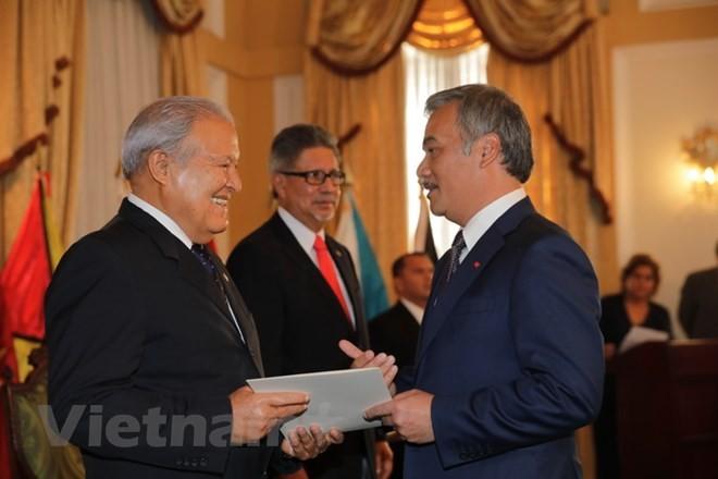 萨尔瓦多总统桑切斯高度评价与越南的各方面关系 - ảnh 1