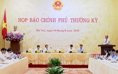 越南政府办公厅主任梅进勇部长:今年前7个月越南经济出现积极信号 - ảnh 1