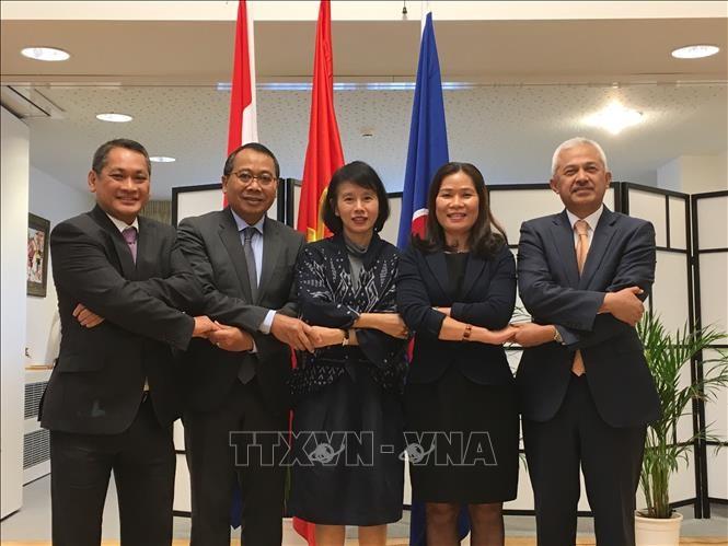 越南大使吴氏和主持海牙东盟委员会2018年9月例会 - ảnh 1