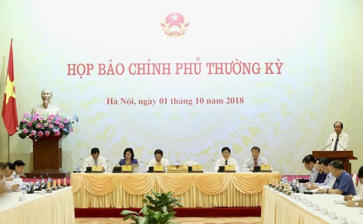 越南政府2018年9月例行记者会举行 - ảnh 1
