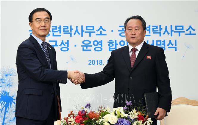 韩朝官员讨论落实高级领导人达成的协议 - ảnh 1