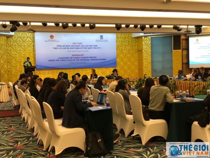 越南接受第3轮普遍定期审议报告研讨会举行 - ảnh 1