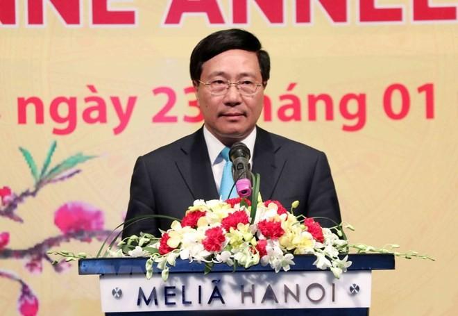 2018年越南的每一个成功都离不开驻越大使、国际组织首席代表的参与和贡献 - ảnh 1
