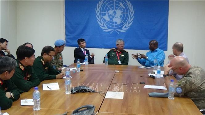 越南跨部门工作组代表团与联合国驻南苏丹特派团座谈 - ảnh 1