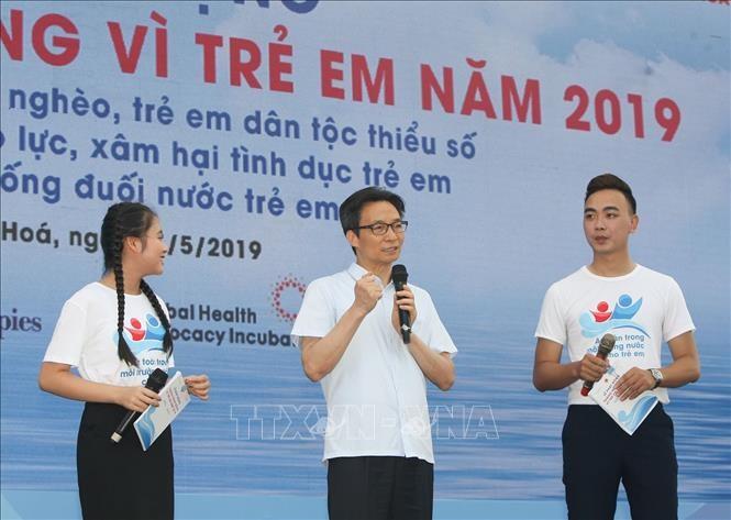 2019年儿童行动月启动仪式在清化省举行 - ảnh 1