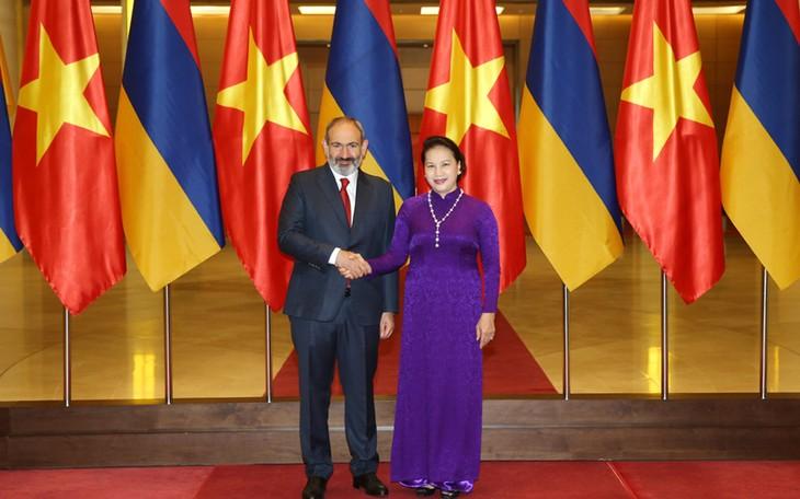 越南国会主席阮氏金银会见亚美尼亚总理帕什尼扬 - ảnh 1