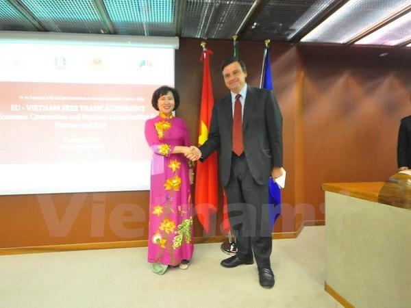 Vietnam und Italien fördern Wirtschaftszusammenarbeit - ảnh 1