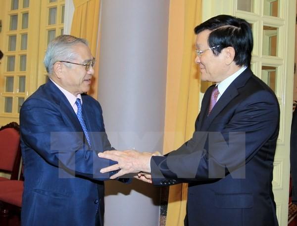 Staatspräsident empfängt Delegation japanisch-vietnamesischer Freundschaftsgesellschaft aus Kansai - ảnh 1