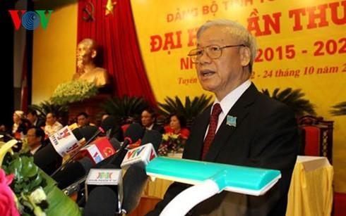 Spitzenpolitiker nehmen an Parteikonferenz in den Provinzen Tuyen Quang und Thua Thien-Hue teil - ảnh 1