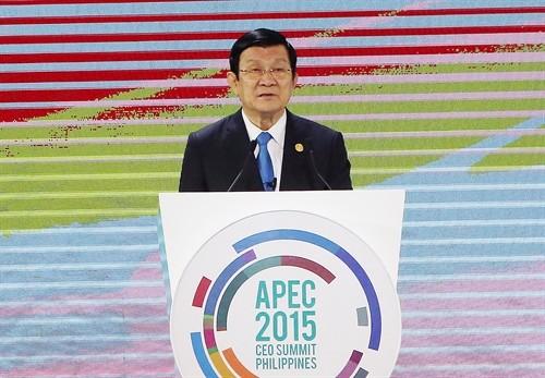 Aktivitäten des Staatspräsidenten Truong Tan Sang beim APEC-Gipfel - ảnh 1