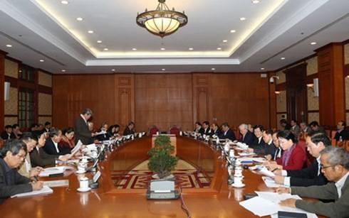 KPV-Generalsekretär leitet Sitzung über Vorschläge zu Beschlüssen des 12. Parteitages - ảnh 1