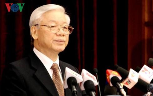 Eröffnung der ZK-Sitzung der KP Vietnams - ảnh 1