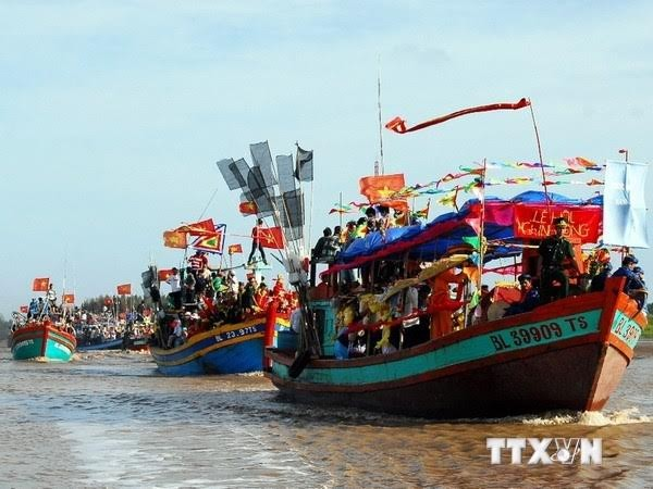 Nghinh Ong-Fest in der südvietnamesisichen Provinz Ben Tre als immaterielles Kulturerbe  - ảnh 1