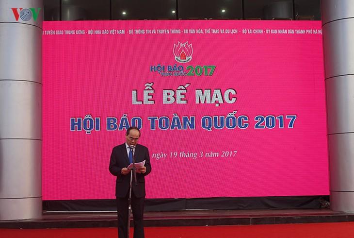 Abschluss des Pressefestivals 2017 in Hanoi - ảnh 1