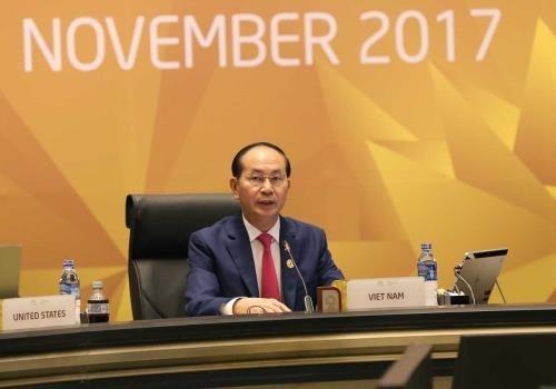 Staatspräsident Tran Dai Quang: APEC 2017 hat Ansehen Vietnams verbessert - ảnh 1