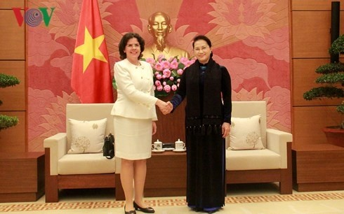 Parlamentspräsidentin Nguyen Thi Kim Ngan empfängt Botschafter aus Kuba und Spanien - ảnh 1