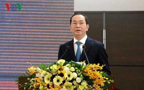 Staatspräsident Tran Dai Quang: Förderungspolitik für Privatwirtschaft effizient umsetzen - ảnh 1
