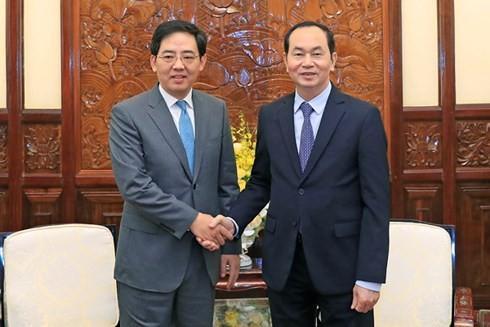 Staatspräsident Tran Dai Quang empfängt chinesischen Botschafter in Vietnam - ảnh 1