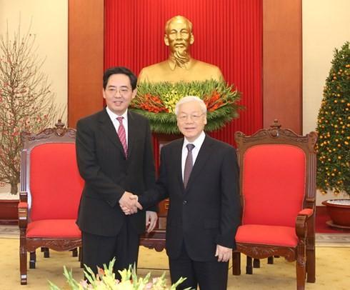 KPV-Generalsekretär Nguyen Phu Trong empfängt chinesichen Botschafter - ảnh 1