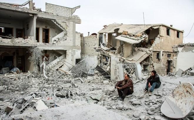 Syrische Armee bereitet angeblich Sturm auf Ost-Ghouta vor - ảnh 1