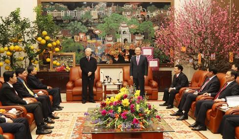 KPV-Generalsekretär Nguyen Phu Trong besucht Hung Yen - ảnh 1