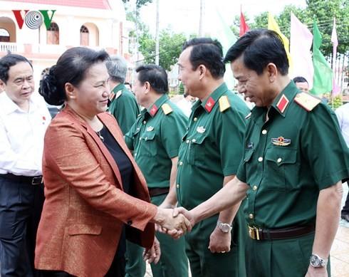 Parlamentspräsidentin Nguyen Thi Kim Ngan trifft Wähler in Can Tho - ảnh 1