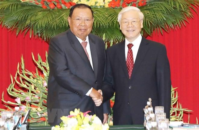 Generalsekretär der laotischen revolutionären Volkspartei besucht Vietnam - ảnh 1
