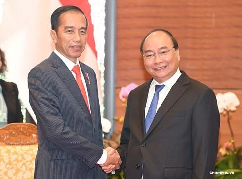 Premierminister Nguyen Xuan Phuc trifft indonesischen Präsidenten - ảnh 1