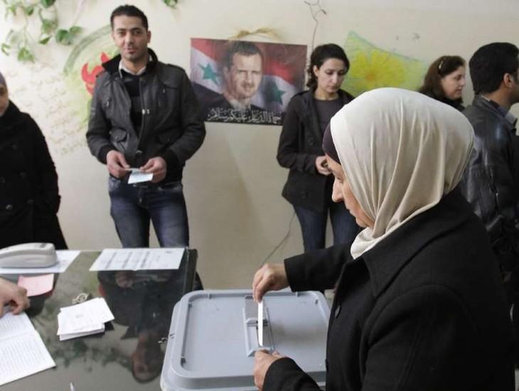 Erste Wahl in Syrien seit sieben Jahren - ảnh 1