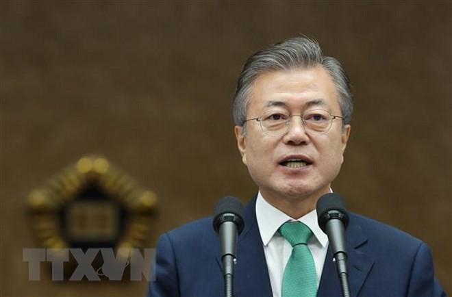 Südkoreanischer Präsident fördert Dialog zwischen USA und Nordkorea - ảnh 1