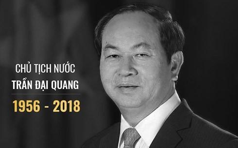 Vietnamesen trauern um den Tod des vietnamesischen Staatspäsidenten Tran Dai Quang - ảnh 1