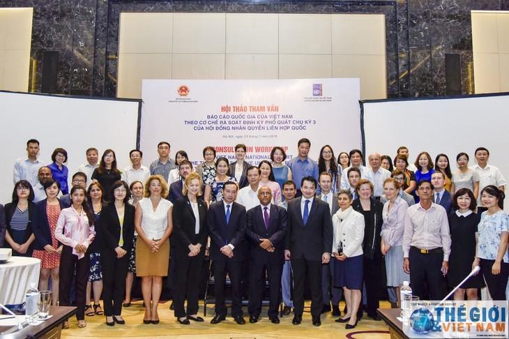Seminar über Veröffentlichung des nationalen Berichts UPR des UN-Menschenrechtsrates - ảnh 1