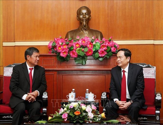Kommissionen für Frieden und Solidarität von Laos und Vietnam verstärken die Zusammenarbeit - ảnh 1