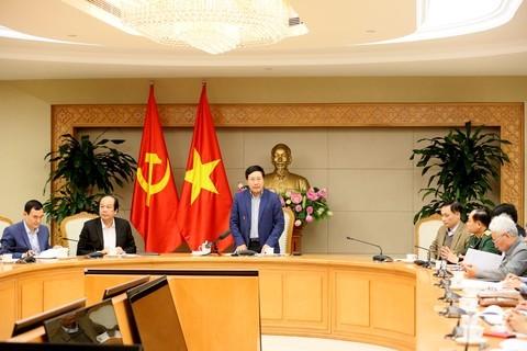 Außenminister  Pham Binh Minh leitet Siztung zur Vorbereitung des Gipfeltreffens von Trump und Kim in Hanoi - ảnh 1