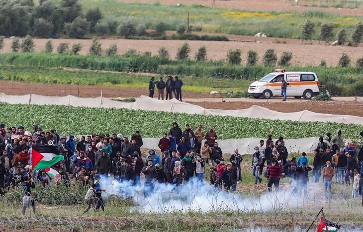 Mindestens vier Palästinenser wurden bei der Kundgebung in Gaza getötet - ảnh 1
