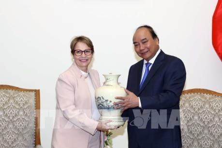 Premierminister Nguyen Xuan Phuc empfängt Landwirtschaftsministerin aus Brazilien - ảnh 1